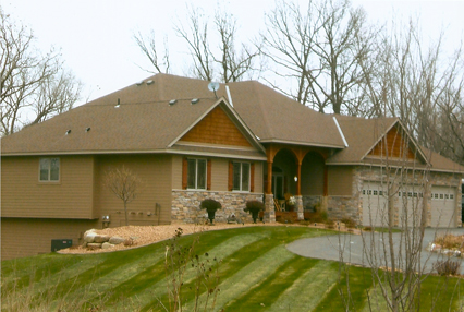 New roof by Everlasting Exteriors in Hastings, MN